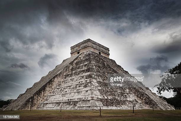 Mayan Chichen Itza Ancient Pyramid Temple Ruin of Yucatan Mexico