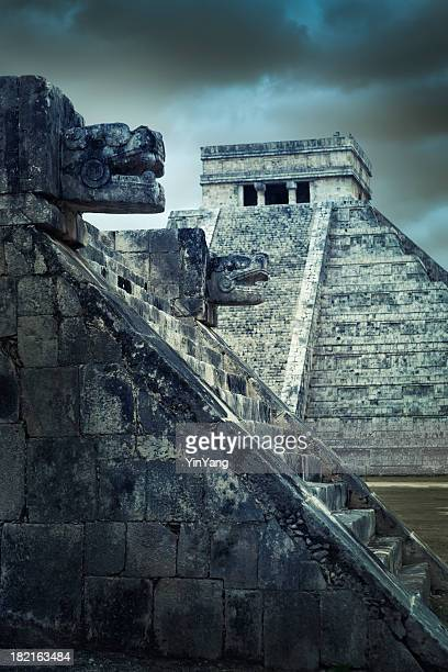 Mayan Chichen Itza Traditional Temple Pyramid Ruin, Yucatan, Mexico