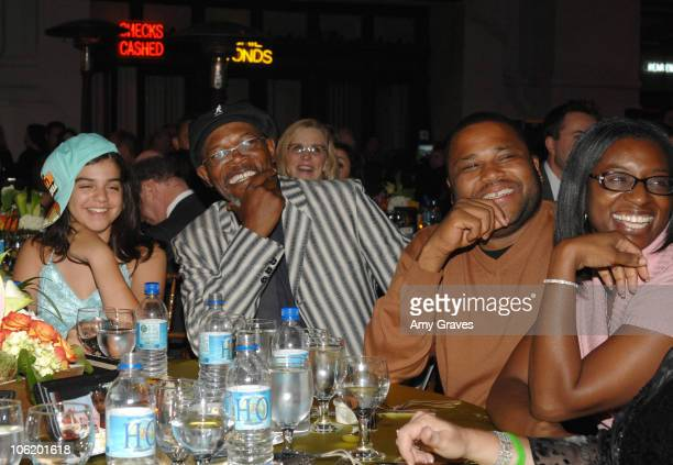 Mayan Lopez Samuel L Jackson Anthony Anderson and guest