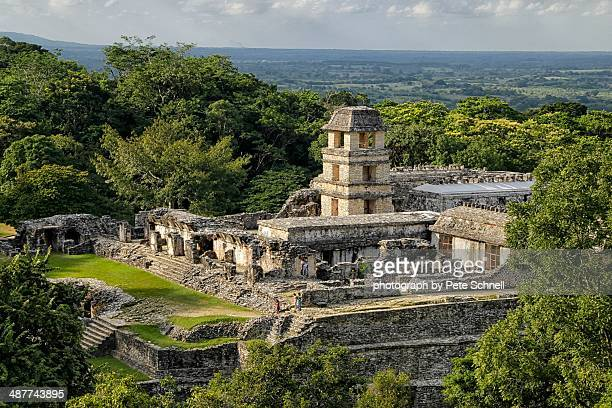 Mayan palace at Palenque, Mexico