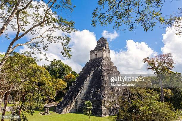 Mayan ruins of Tikal, Temple I, Guatemala