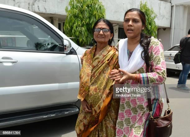 Mayank Tewari younger brother not in picture of deceased IAS officer Anurag Tewari mother Sushila Tewari and sisterinlaw Subhra Tewari met the Chief...