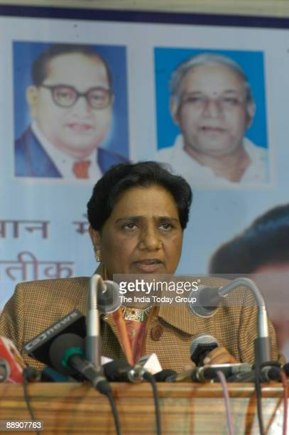 Mayawati President of Bahujan Samaj Party and former UP Chief Minister celebrating her 51th Birthday at her Residence in New Delhi India on January...