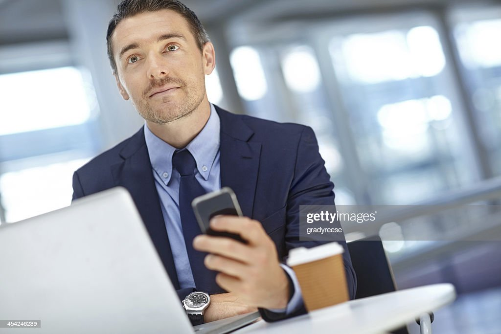 Maybe I should do a follow-up call? : Stock Photo