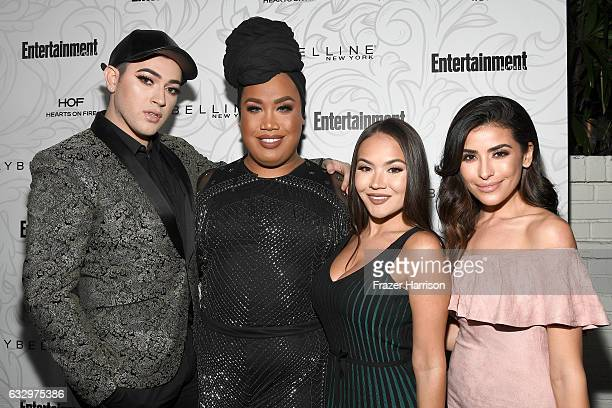 Maybelline social influencers Manny MUA Patrick Starr Maryam Maquillage and Sazan Hendrix attend the Entertainment Weekly Celebration of SAG Award...