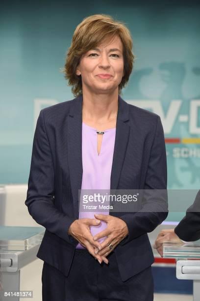 Maybrit Illner during 'Das TVDuell Merkel Schulz' Press Preview at Studio Berlin Adlershof on September 1 2017 in Berlin Germany