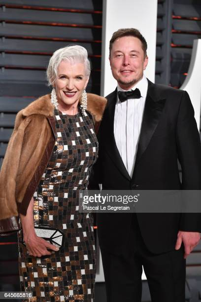 Maye Musk and SpaceX CEO Elon Musk attend the 2017 Vanity Fair Oscar Party hosted by Graydon Carter at Wallis Annenberg Center for the Performing...