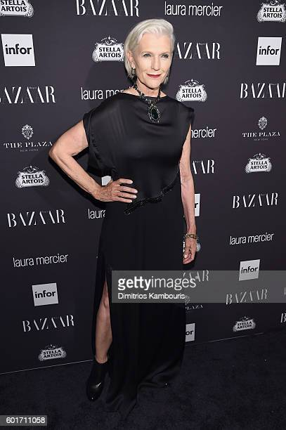 Maye Musk attends Harper's Bazaar's celebration of 'ICONS By Carine Roitfeld' presented by Infor Laura Mercier and Stella Artois at The Plaza Hotel...