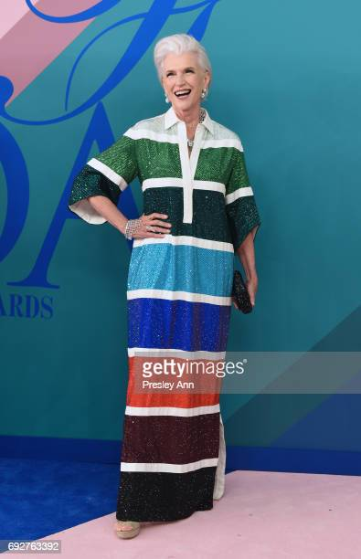 Maye Musk attends the 2017 CFDA Fashion Awards at Hammerstein Ballroom on June 5 2017 in New York City
