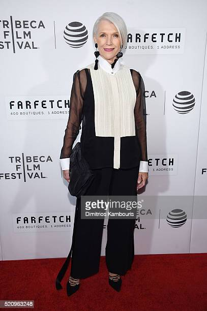 Maye Musk attends the 'First Monday In May' world premiere during the 2016 Tribeca Film Festival opening night at BMCC John Zuccotti Theater on April...