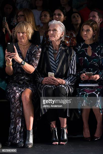 Maye Musk attends the Tome fashion show during the September 2016 New York Fashion Week The Shows at The Dock Skylight at Moynihan Station on...