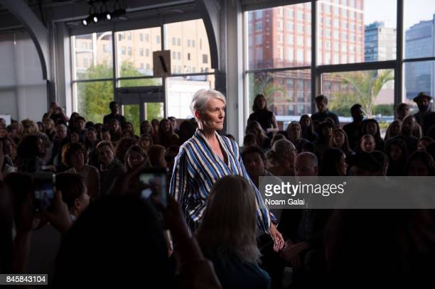 Maye Musk attends the Zero Maria Cornejo fashion show during New York Fashion Week on September 11 2017 in New York City