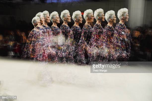 Maye Musk walks the runway at Concept Korea fashion show during New York Fashion Week The Shows at Gallery 2 Skylight Clarkson Sq on September 8 2017...