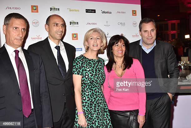 Mayer Azogui Shiseido CEO Jean Charles Viti Patricia Chapelotte Samia Ghali and Benjamin Patou from MOMA group attend the 'Prix de la Femme...