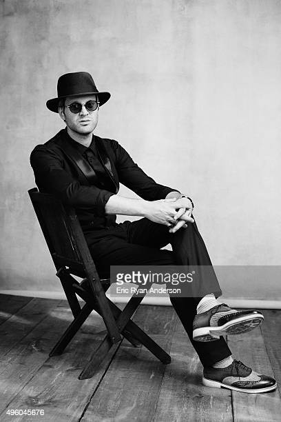 Mayer Hawthorne poses for a portrait at the Governors Ball 2015 Music Festival for Billboard Magazine on June 6 2015 in New York City