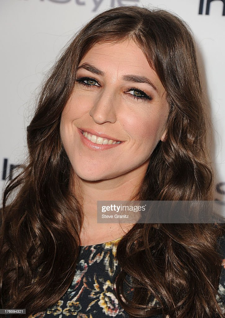<a gi-track='captionPersonalityLinkClicked' href=/galleries/search?phrase=Mayim+Bialik&family=editorial&specificpeople=1539271 ng-click='$event.stopPropagation()'>Mayim Bialik</a> arrives at the 13th Annual InStyle Summer Soiree at Mondrian Los Angeles on August 14, 2013 in West Hollywood, California.