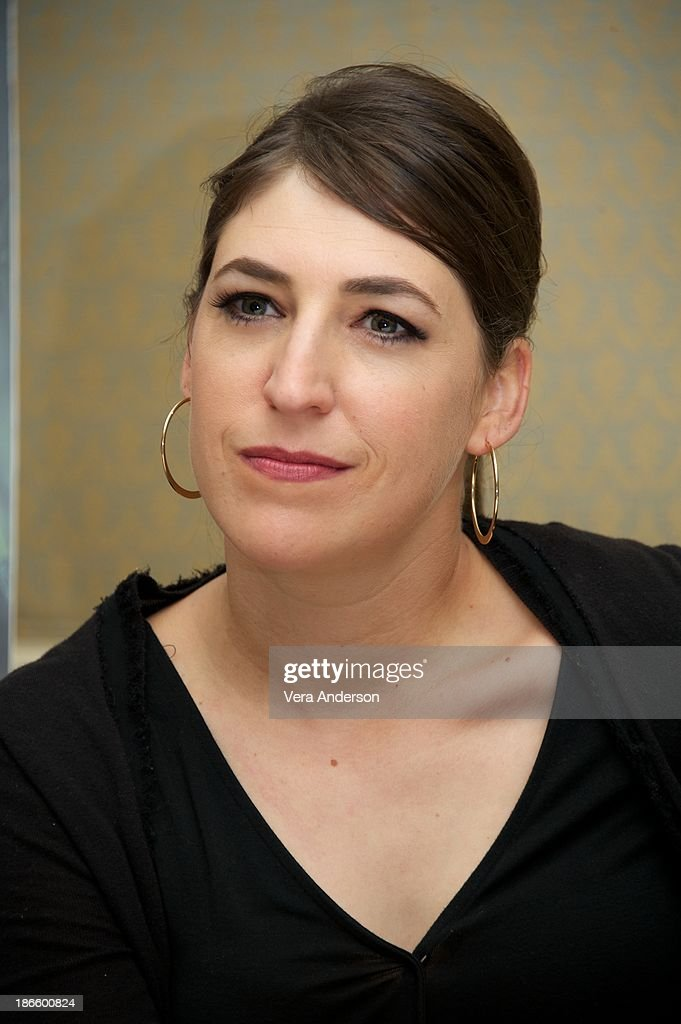 <a gi-track='captionPersonalityLinkClicked' href=/galleries/search?phrase=Mayim+Bialik&family=editorial&specificpeople=1539271 ng-click='$event.stopPropagation()'>Mayim Bialik</a> at 'The Big Bang Theory' Press Conference at the Four Seasons Hotel on October 30, 2013 in Beverly Hills.