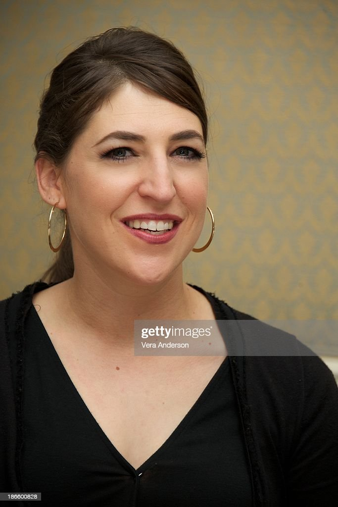 Mayim Bialik at 'The Big Bang Theory' Press Conference at the Four Seasons Hotel on October 30, 2013 in Beverly Hills.