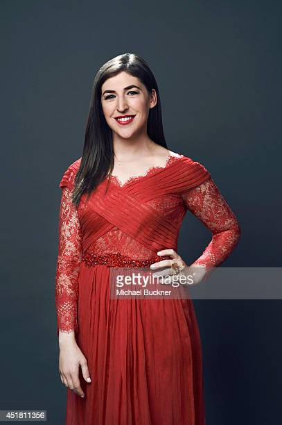 Mayim Bialik poses for a portrait at the Critics' Choice Awards 2014 on June 19 2014 in Beverly Hills California