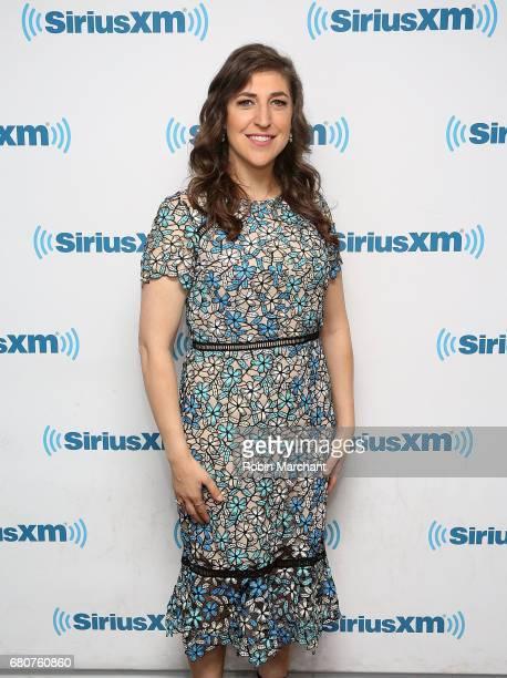 Mayim Bialik visits at SiriusXM Studios on May 9 2017 in New York City