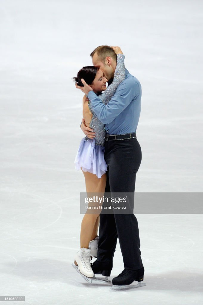 Maylin and <a gi-track='captionPersonalityLinkClicked' href=/galleries/search?phrase=Daniel+Wende&family=editorial&specificpeople=2089493 ng-click='$event.stopPropagation()'>Daniel Wende</a> of Germany compete in the Pairs Short Program during day one of the ISU Nebelhorn Trophy at Eissportzentrum Oberstdorf on September 26, 2013 in Oberstdorf, Germany.