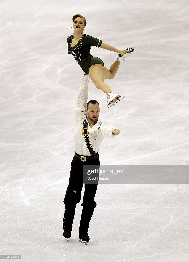 Maylin Hausch and <a gi-track='captionPersonalityLinkClicked' href=/galleries/search?phrase=Daniel+Wende&family=editorial&specificpeople=2089493 ng-click='$event.stopPropagation()'>Daniel Wende</a> of Germany perform during day five of the ISU World Figure Skating Championships on March 30, 2012 in Nice, France.