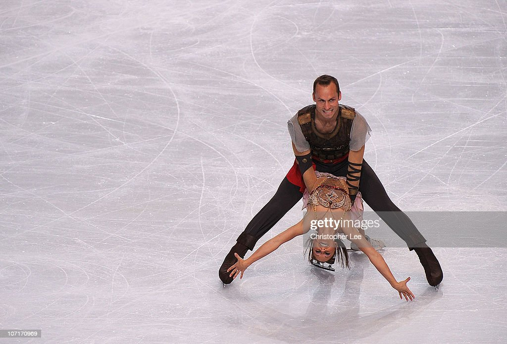 Maylin Hausch and <a gi-track='captionPersonalityLinkClicked' href=/galleries/search?phrase=Daniel+Wende&family=editorial&specificpeople=2089493 ng-click='$event.stopPropagation()'>Daniel Wende</a> of Germany perform in the Pairs Free Skating during the ISU GP Trophee Eric Bompard 2010 at the Palais omnisport de Paris Bercy on November 27, 2010 in Paris, France.