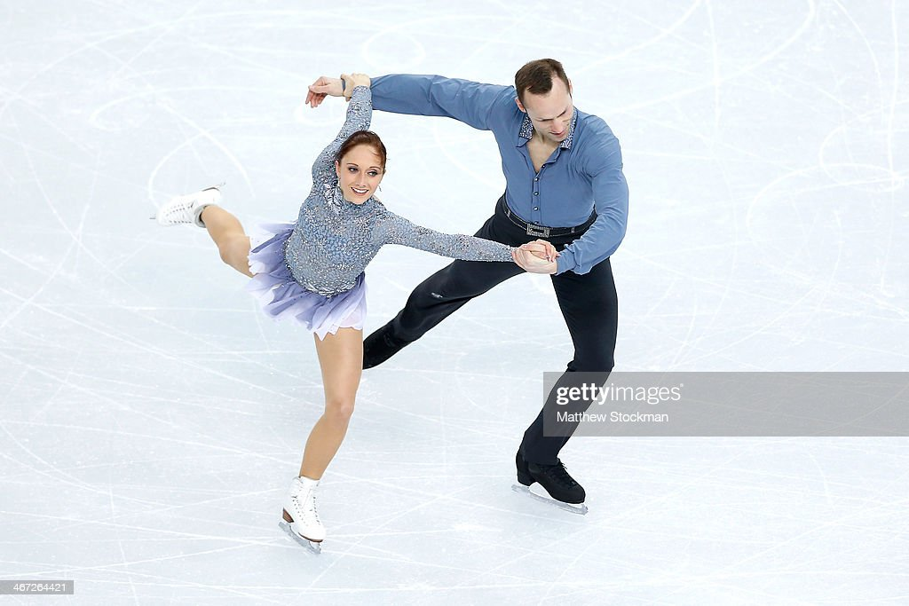Maylin Wende and <a gi-track='captionPersonalityLinkClicked' href=/galleries/search?phrase=Daniel+Wende&family=editorial&specificpeople=2089493 ng-click='$event.stopPropagation()'>Daniel Wende</a> of Germany compete in the Figure Skating Pairs Short Program during the Sochi 2014 Winter Olympics at Iceberg Skating Palace on February 6, 2014 in Sochi, Russia.