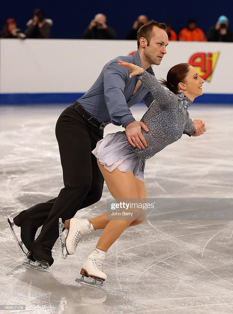 Maylin Wende and <a gi-track='captionPersonalityLinkClicked' href=/galleries/search?phrase=Daniel+Wende&family=editorial&specificpeople=2089493 ng-click='$event.stopPropagation()'>Daniel Wende</a> of Germany compete in the Pairs Short Program of the ISU European Figure Skating Championships 2014 held at the Syma Hall stadium on January 17, 2014 in Budapest, Hungary.
