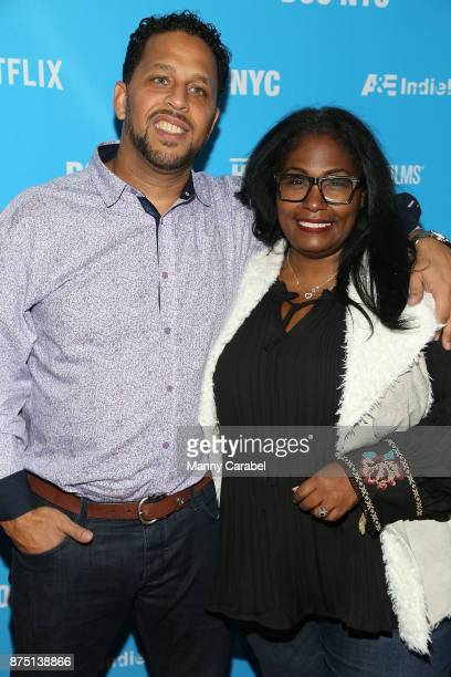 Maynard Jackson III and Wendy Eley Jackson attend the 2017 DOC NYC World Premiere of 'Maynard' at IFC Center on November 16 2017 in New York City