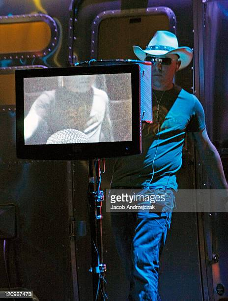 Maynard James Keenan of Puscifer performs at The Pearl concert theater at the Palms Casino Resort February 15 2009 in Las Vegas Nevada Puscifer is a...