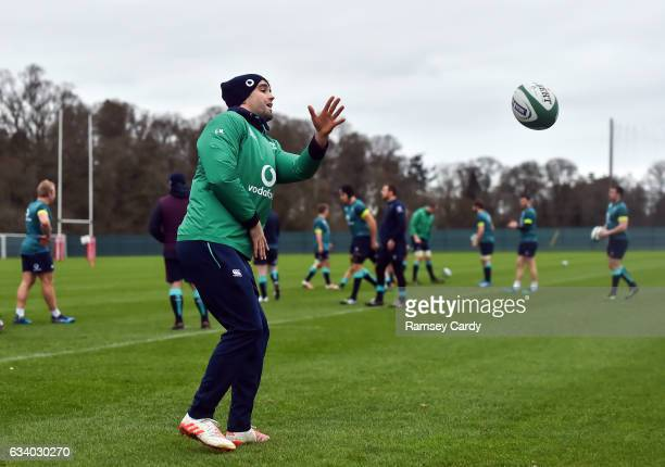 Maynooth Ireland 6 February 2017 Conor Murray of Ireland during squad training at Carton House in Maynooth Co Kildare