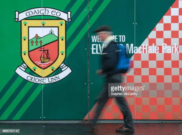 Mayo Ireland 21 May 2017 A patron arrives at Elvery's MacHale Park prior to the Connacht GAA Football Senior Championship QuarterFinal match between...
