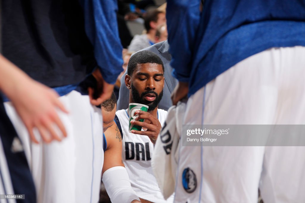 O.J. Mayo #32 of the Dallas Mavericks sits on the bench during the game against the Orlando Magic on February 20, 2013 at the American Airlines Center in Dallas, Texas.