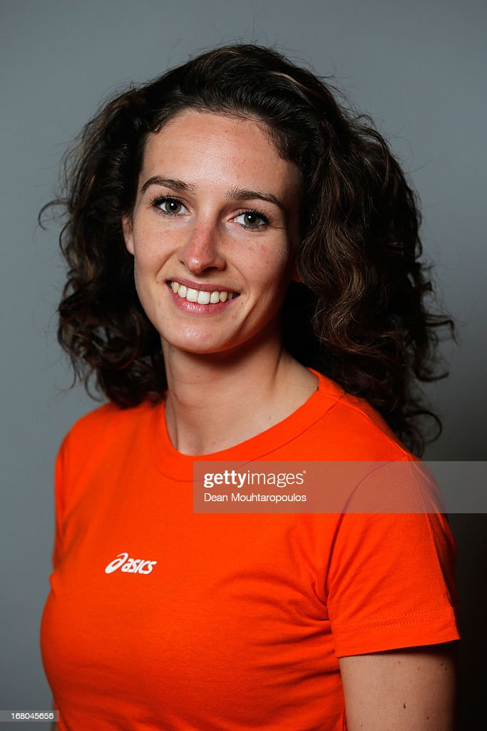 Mayon Kuipers, poses during the NOC*NSF (Nederlands Olympisch Comite * Nederlandse Sport Federatie) Sochi athletes and officials photo shoot for Asics at the Spoorwegmuseum on May 4, 2013 in Utrecht, Netherlands.