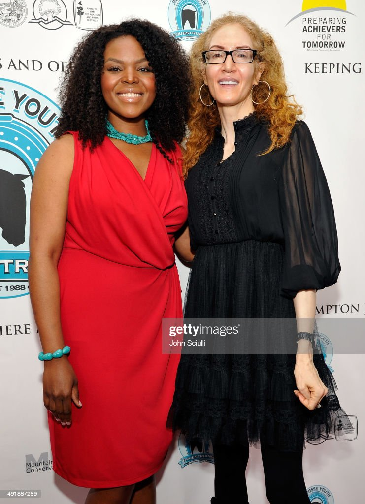 Mayor Aja Brown and Jami Morse Heidegger attend Compton Jr. Posse 7th annual fundraiser gala at The Los Angeles Equestrian Center on May 17, 2014 in Burbank, California.