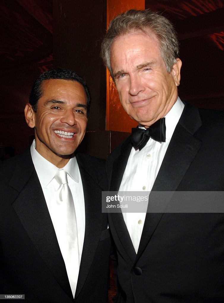 Mayor <a gi-track='captionPersonalityLinkClicked' href=/galleries/search?phrase=Antonio+Villaraigosa&family=editorial&specificpeople=178925 ng-click='$event.stopPropagation()'>Antonio Villaraigosa</a> and <a gi-track='captionPersonalityLinkClicked' href=/galleries/search?phrase=Warren+Beatty&family=editorial&specificpeople=201478 ng-click='$event.stopPropagation()'>Warren Beatty</a> during 58th Annual Primetime Emmy Awards - HBO After Party - Red Carpet and Inside at Pacific Design Center in West Hollywood, California, United States.