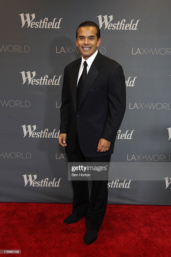 Mayor Antonio Villaraigosa attends the Los Angeles World Airports (LAWA) and Westfield present grand opening of the new Tom Bradley International Terminal on June 20, 2013 in Los Angeles, California.