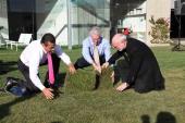 Mayor Antonio Villaraigosa Councilman Paul Krekorian and WET CEO Mark Fuller attend the unveiling of WET's new facility at Idea Playground on January...