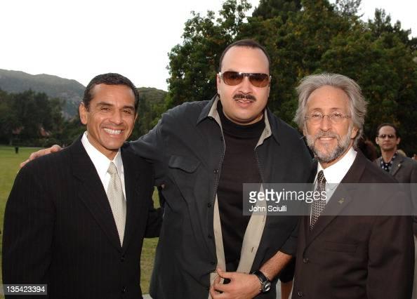 Mayor Antonio Villaraigosa Pepe Aguilar and Neil Portnow