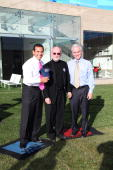 Mayor Antonio Villaraigosa WET CEO Mark Fuller and Councilman Paul Krekorian attend the unveiling of WET's new facility at Idea Playground on January...