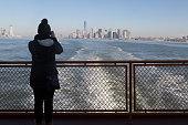 Mayor Bill de Blasio and Staten Island borough president Oddo announce new Staten Island ferry boat which will honor Afghanistan war hero Staff...