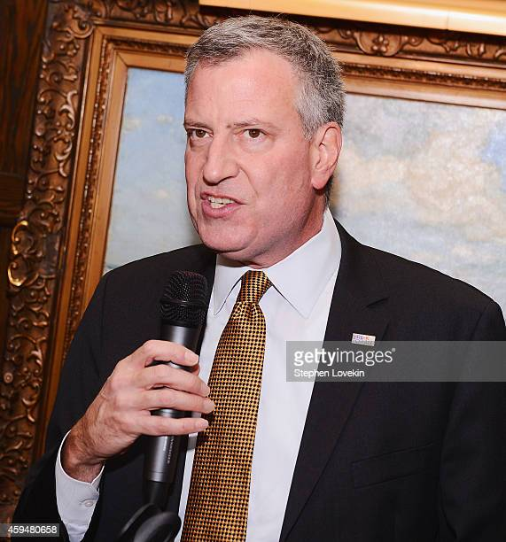 Mayor Bill de Blasio attends The 204 Russian American Person Of The Year Awards at The National Arts Club on November 23 2014 in New York City
