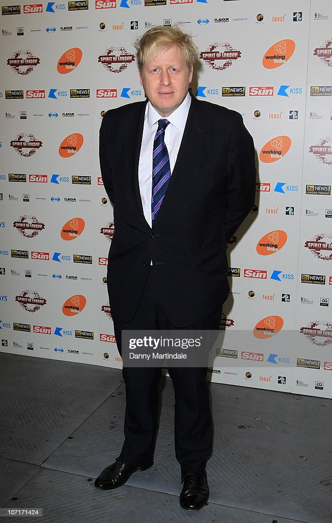 Mayor <a gi-track='captionPersonalityLinkClicked' href=/galleries/search?phrase=Boris+Johnson&family=editorial&specificpeople=209016 ng-click='$event.stopPropagation()'>Boris Johnson</a> attends Spirit of London Awards at Indigo2 at O2 Arena on November 27, 2010 in London, England.