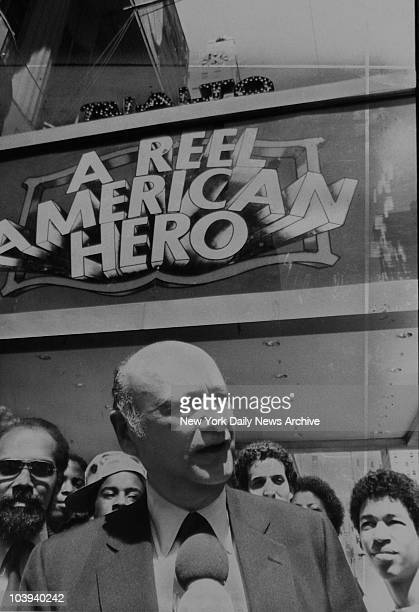 Mayor Ed Koch campaigning for reelection August 22 1981