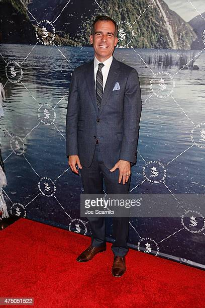 Mayor Eric Garcetti attends the Seedling Launch Party at Seedling Headquarters on May 28 2015 in Los Angeles California
