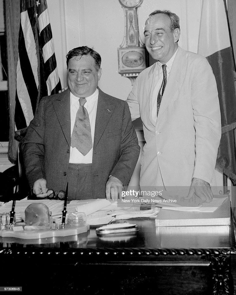 Mayor Fiorello LaGuardia and Gov Robert Moses