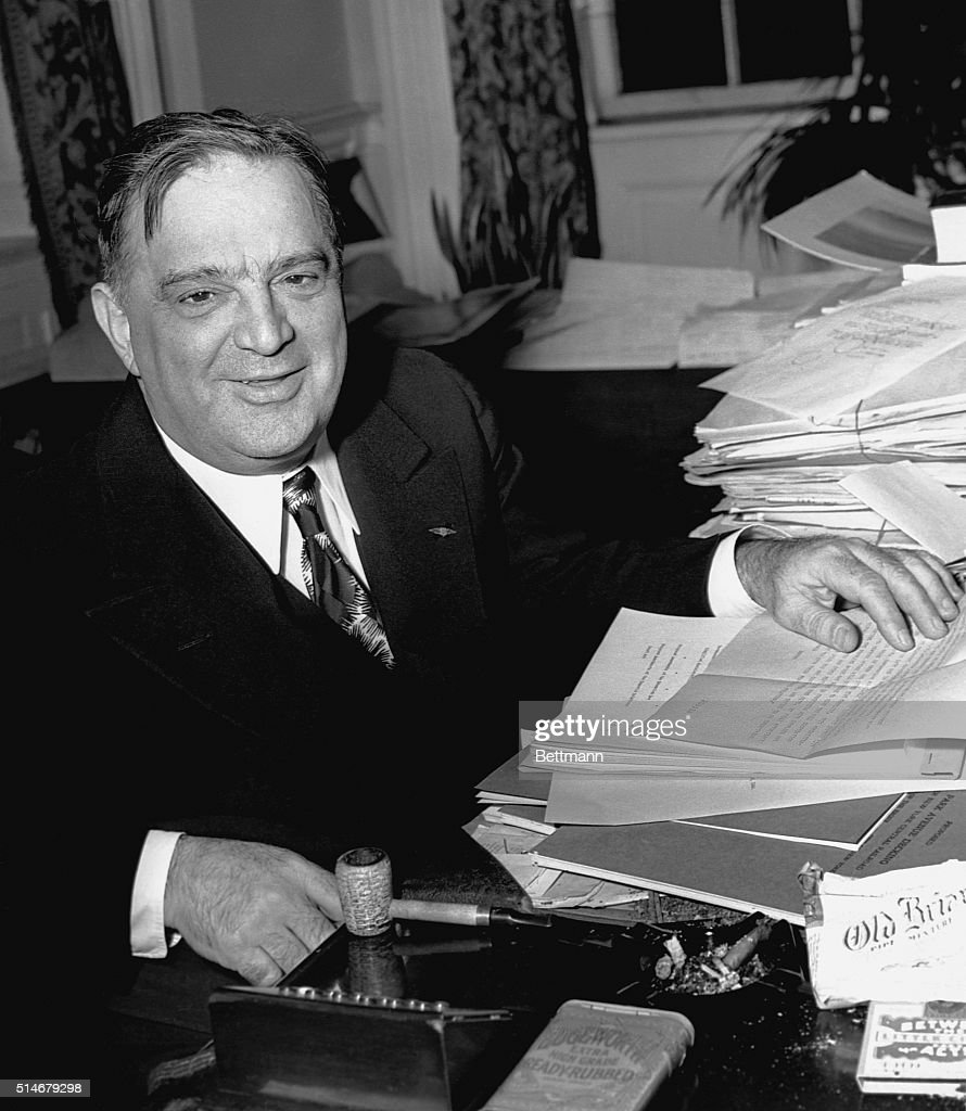 Mayor LaGuardia works at his desk in New York City, 1944.
