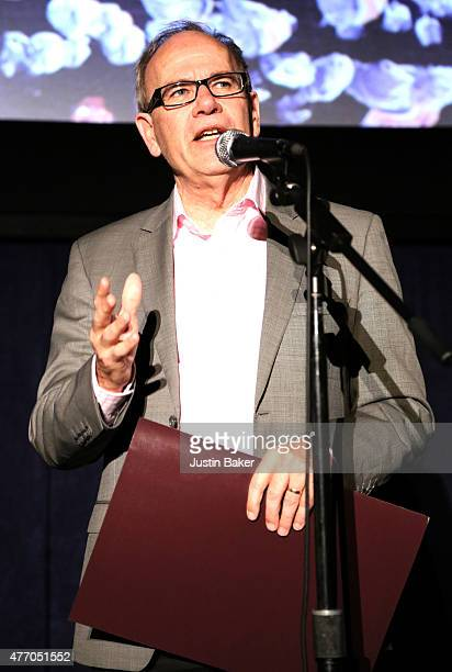 Mayor Len Brown of Auckland accepts a Certificate of Recognition by the city of Los Angeles onstage at 'The Dark Horse' screening during the 2015 Los...