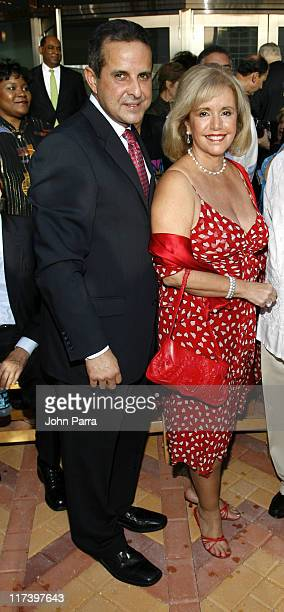 Mayor Manny Diaz and Robin Diaz during Carnival Center Grand Opening Ceremony at Carnival Center for the Performing Arts in Miami Florida United...